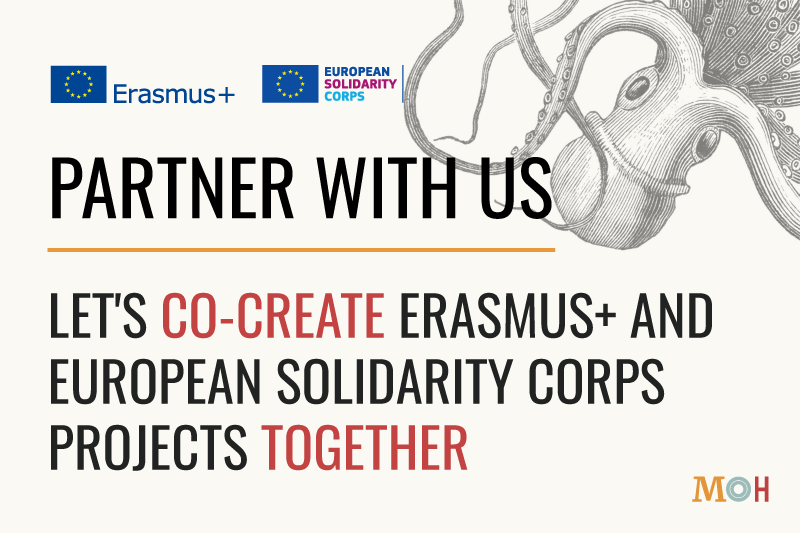 Partner with us - Erasmus+ and ESC Projects - MOH Bari - NGO Italy