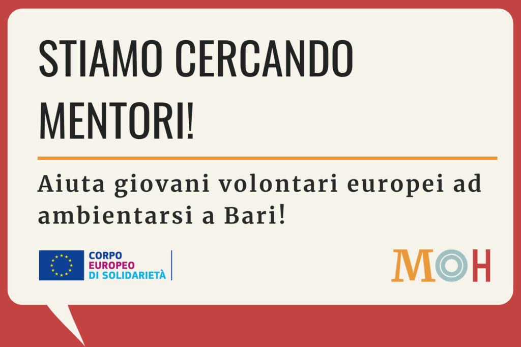 Diventa mentore - Corpo Europeo di solidarietà - Bari